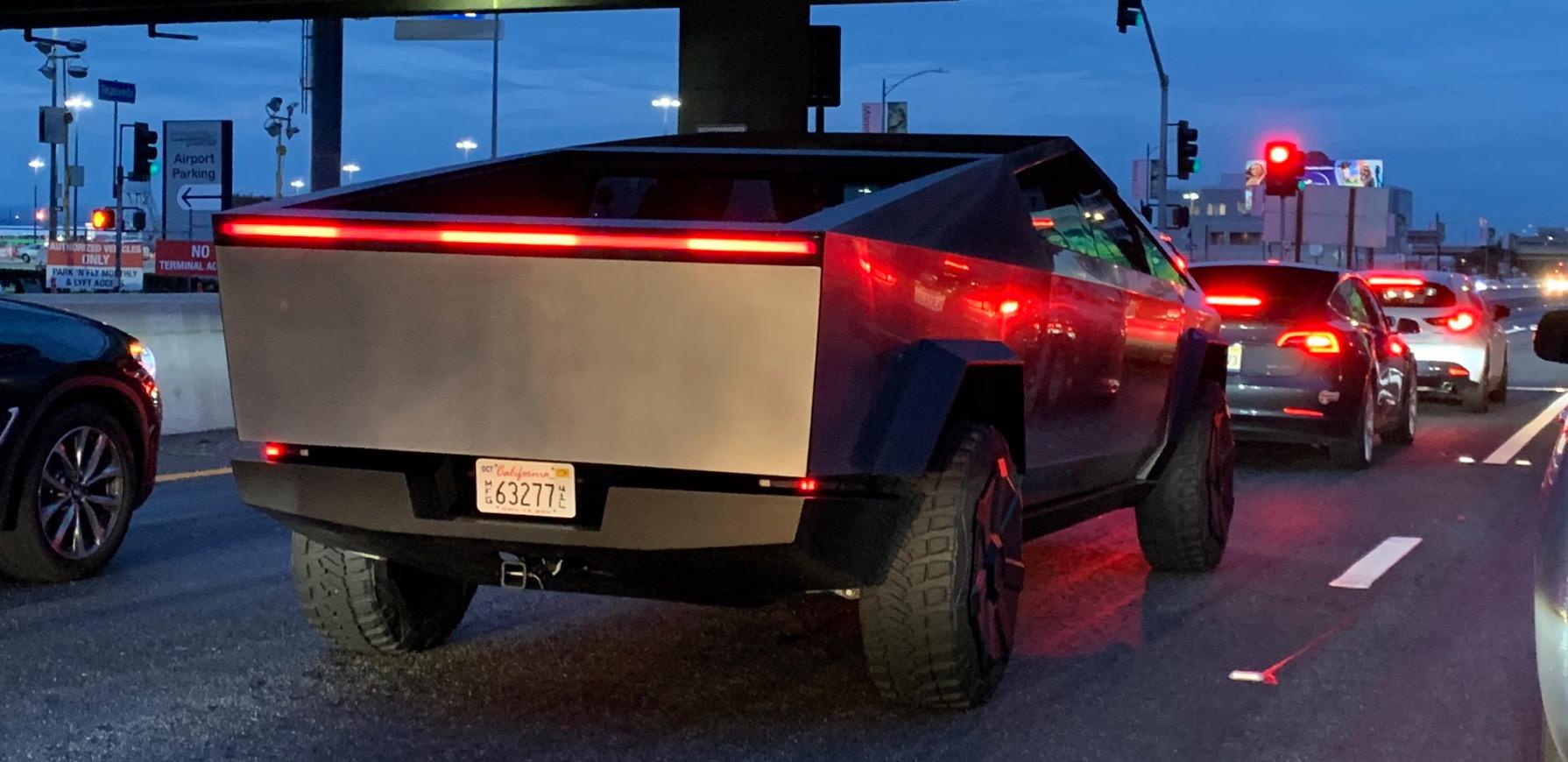 Tesla Cybertruck prototype spotted in the wild - looks massive - Electrek