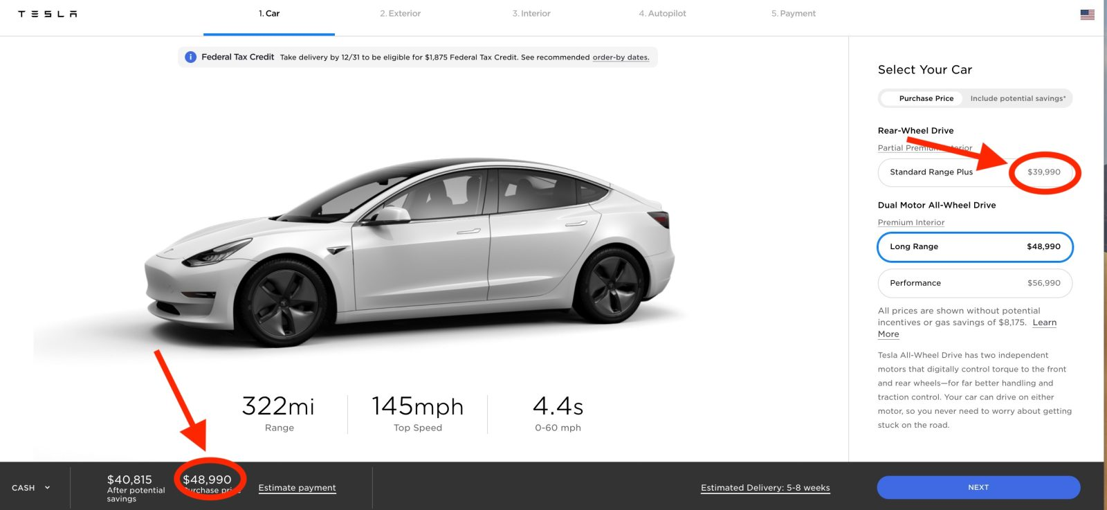 Tesla increases price of Model 3 as federal tax credit ends