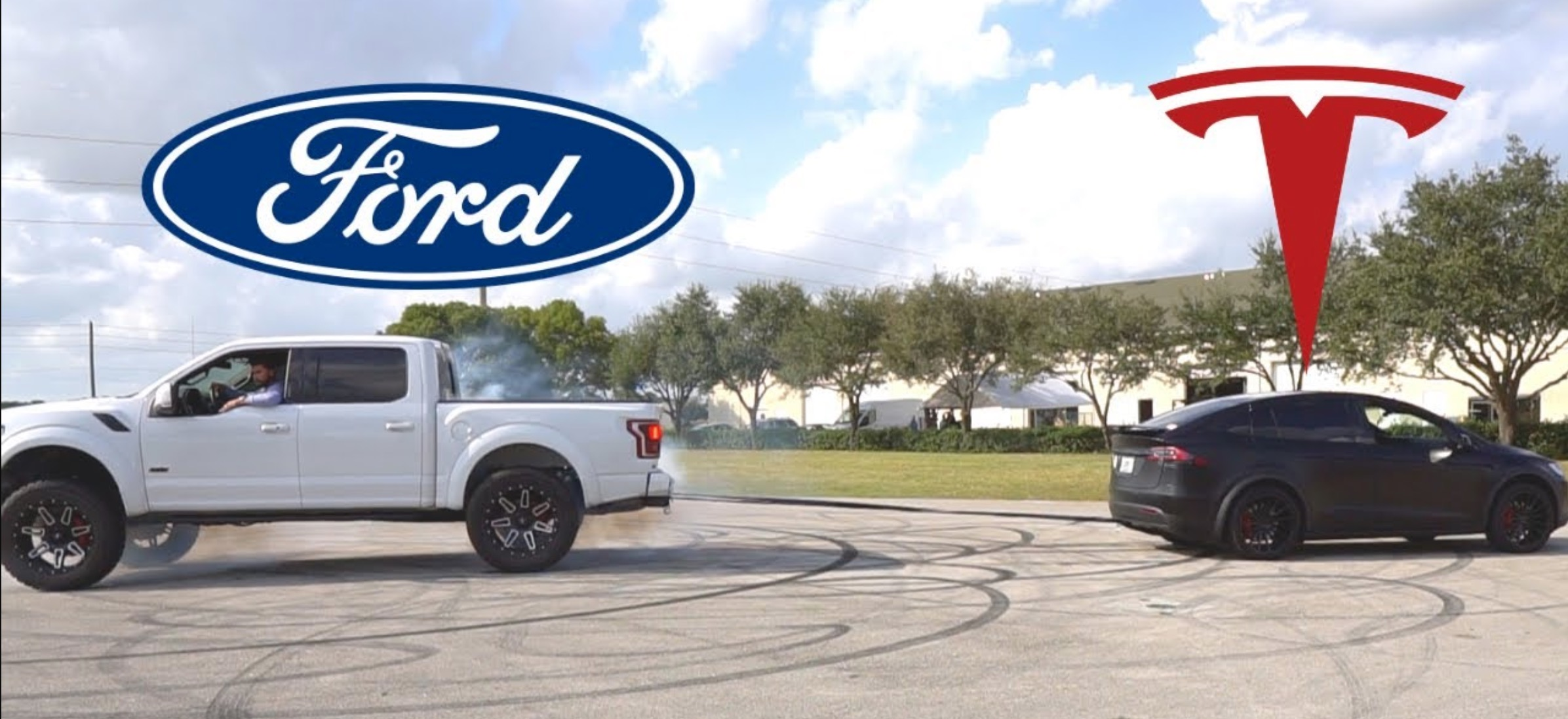 Tesla Model X vs Ford F150 Raptor tug-of-war hints at Cybertruck rematch - Electrek