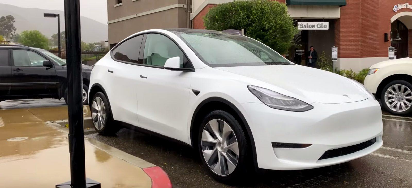 Tesla Model Y stunning prototype spotted with dual motor badge