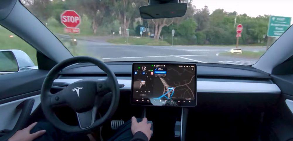 tesla self-driving visualization