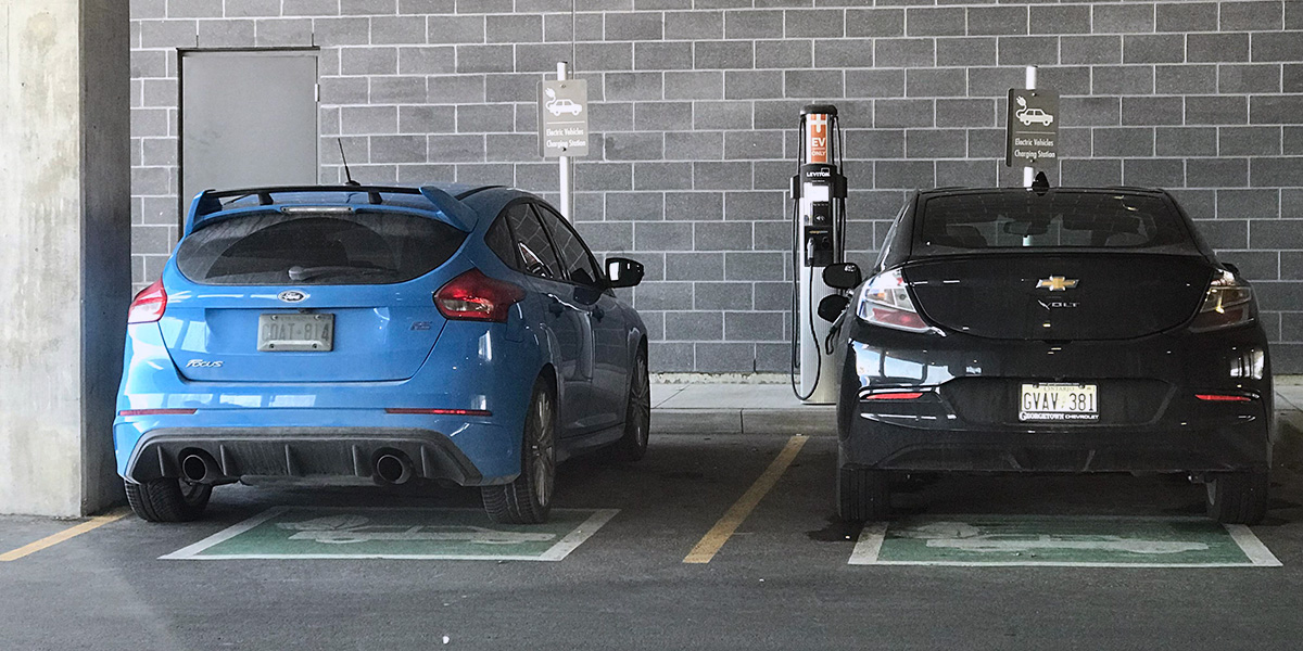 This charging spot in Mississauga was recently ICE'd