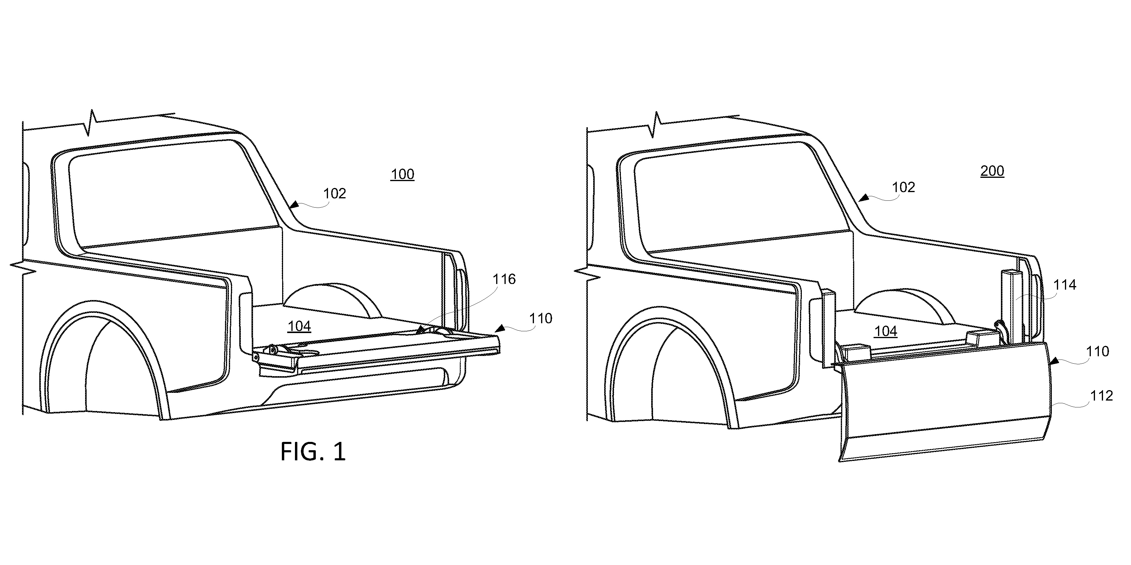 Rivian tailgate patent