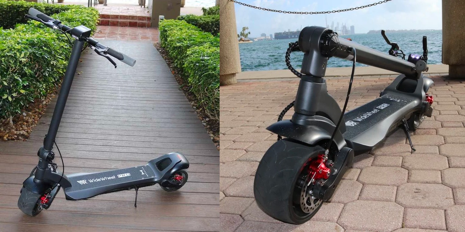 Upgraded dual motor 1,000 W WideWheel Pro electric scooter debuts in the US