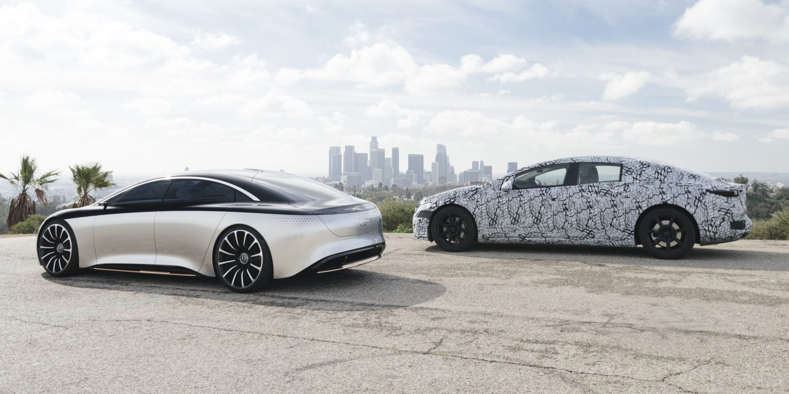 Mercedes-Benz gives preview of its EQS electric sedan with pre-production prototype [Gallery]