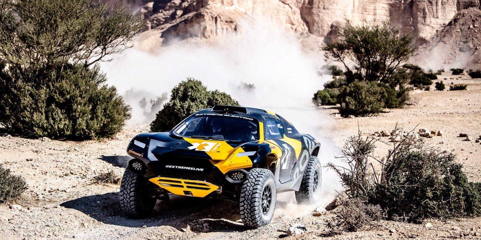 Watch the Extreme E electric rally car conquer Dakar driven by Ken Block