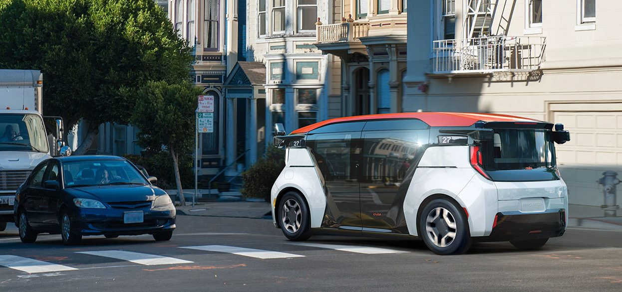 GM Cruise unveils self-driving electric car for ride-sharing