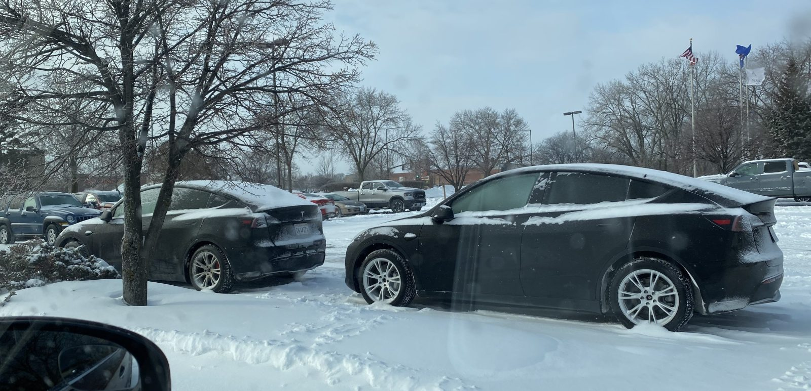 Tesla Model Y prototypes spotted cold-weather testing in Minnesota snow