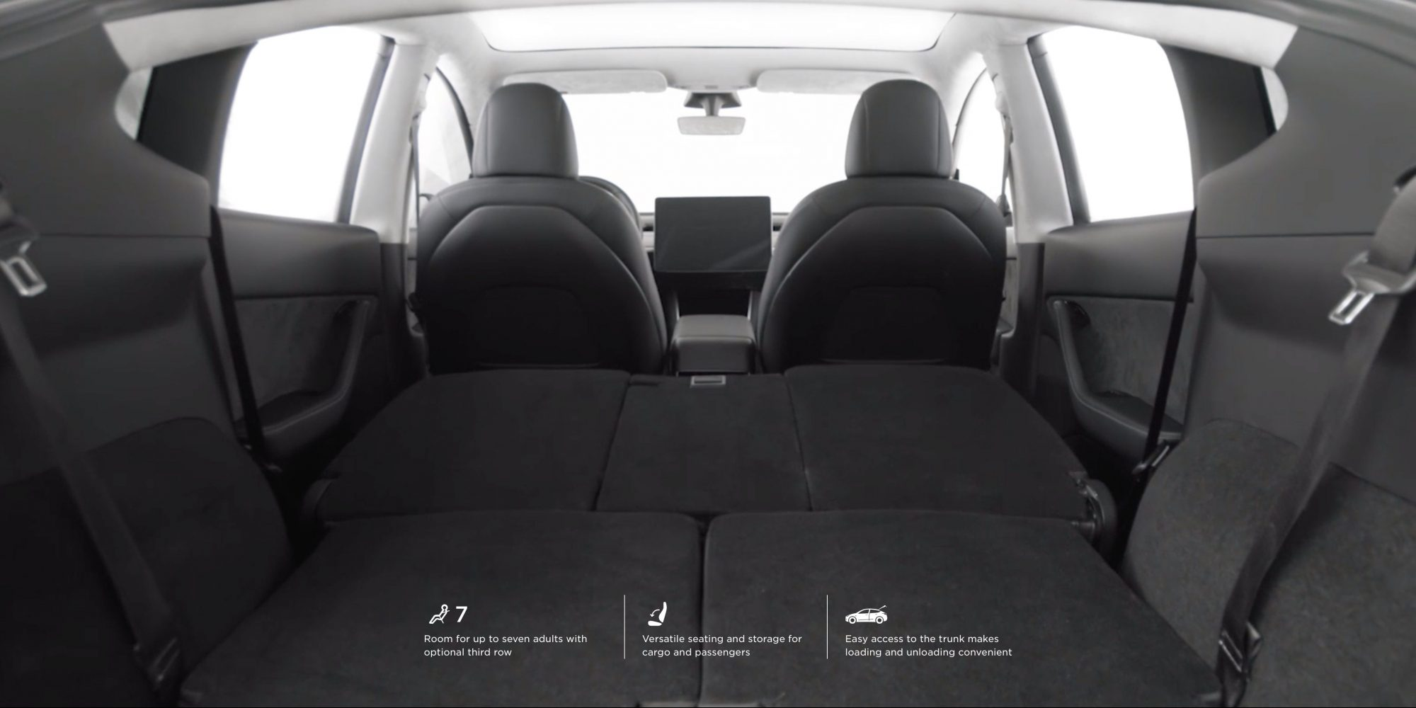 Pictures Surface Of Tesla Model Y Third Row Seats And They Don T Look Large Electrek
