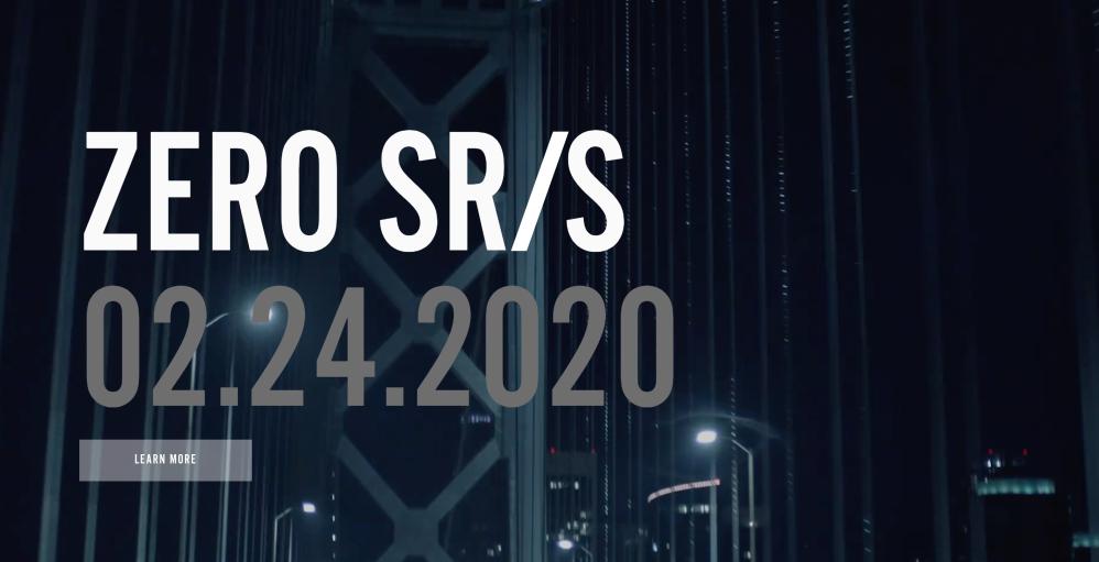 Zero SR/S teaser