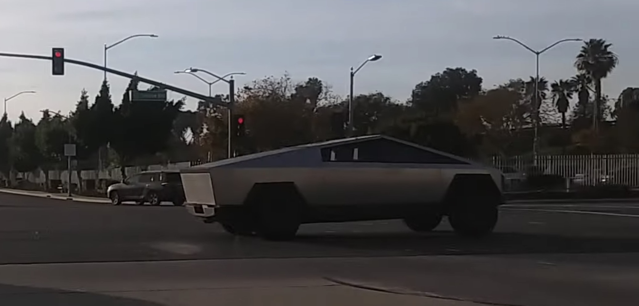 Tesla Cybertruck driven by Elon Musk and Jay Leno spotted ...