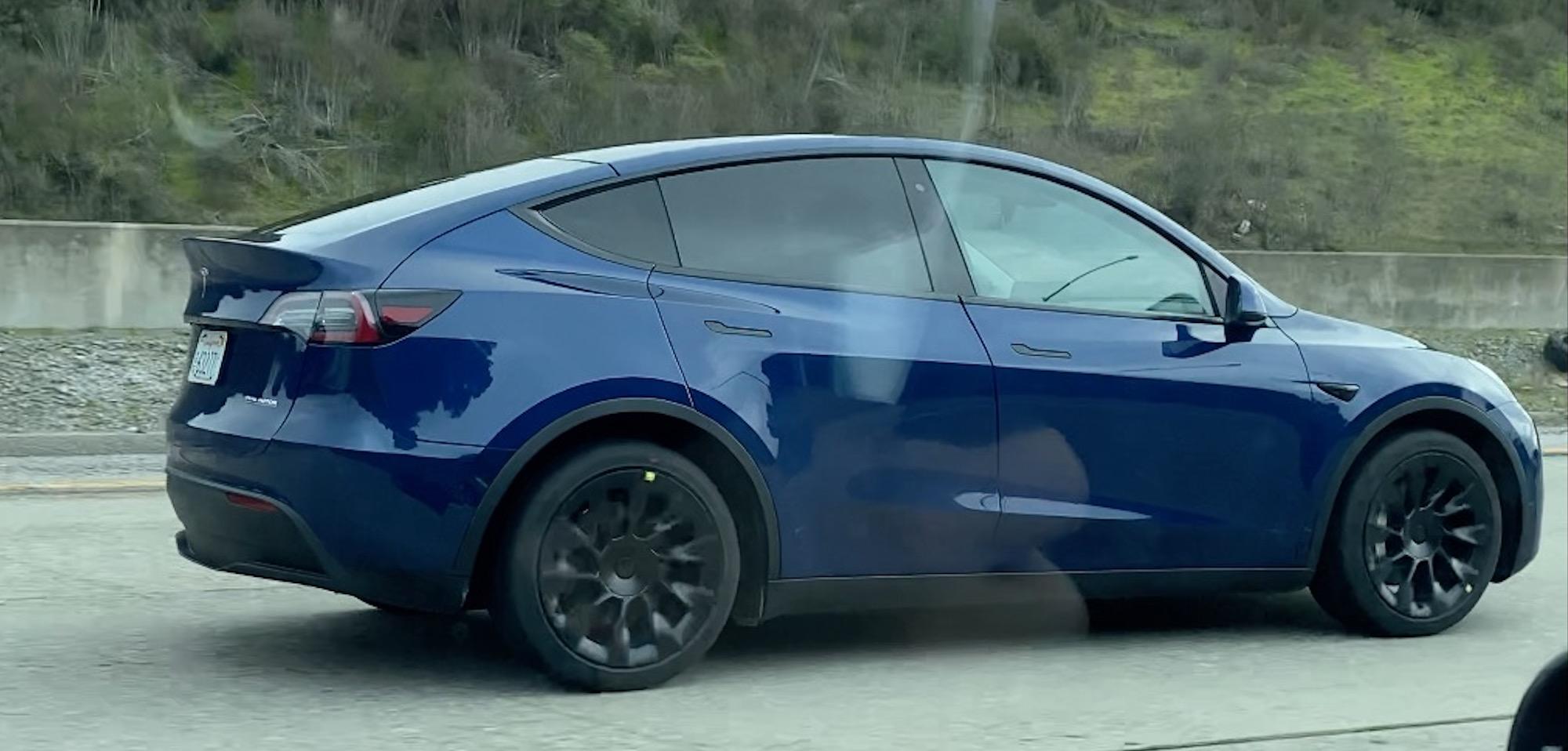 Tesla Model Y Prototype Spotted With New Wheels Electrek