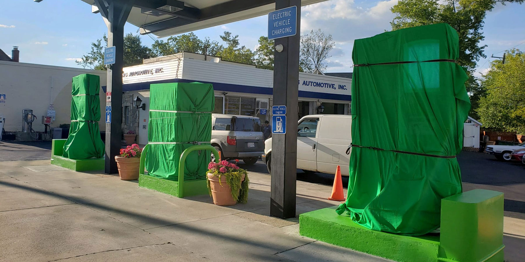 The first gas station to be converted to electric charging. It happened in September 2019 in Takoma Park, Maryland.