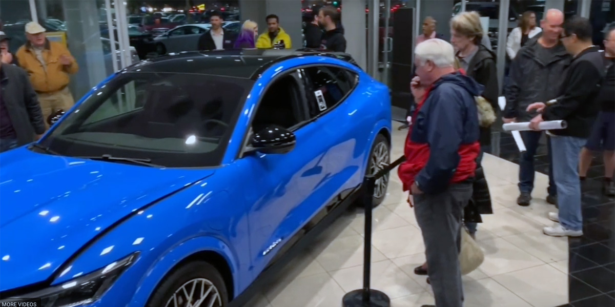 From a video of the Ford Mustang Mach-E being shown at Sunnyvale Ford.