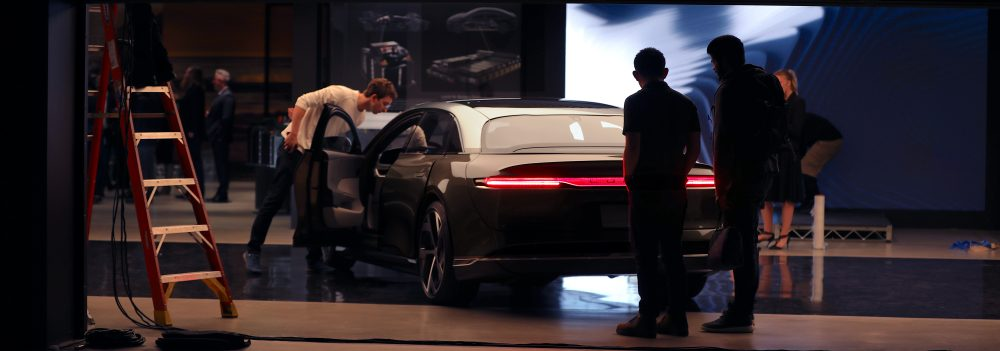 Lucid Air Dream Edition production reveal. Photo: Courtesy Lucid Motors