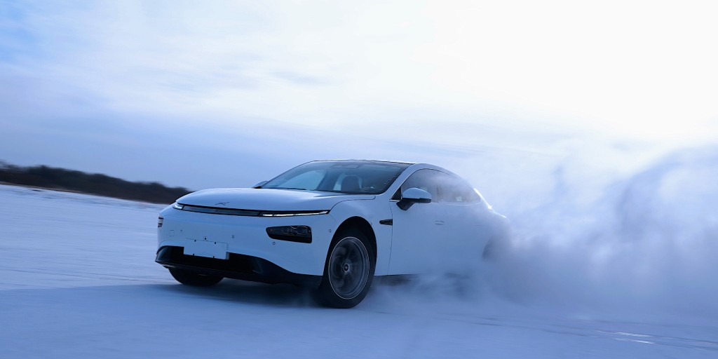 Xpeng's second EV P7 wraps up performance test under icy -30º - Electrek
