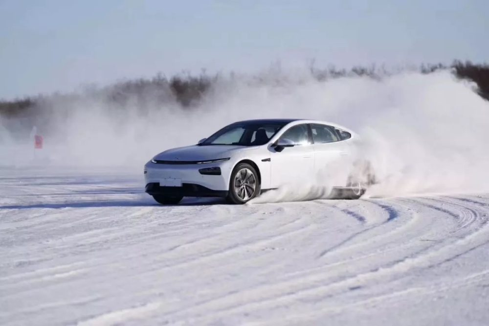 Xpeng Motors P7 winter test. Photo: courtesy Xpeng Motors