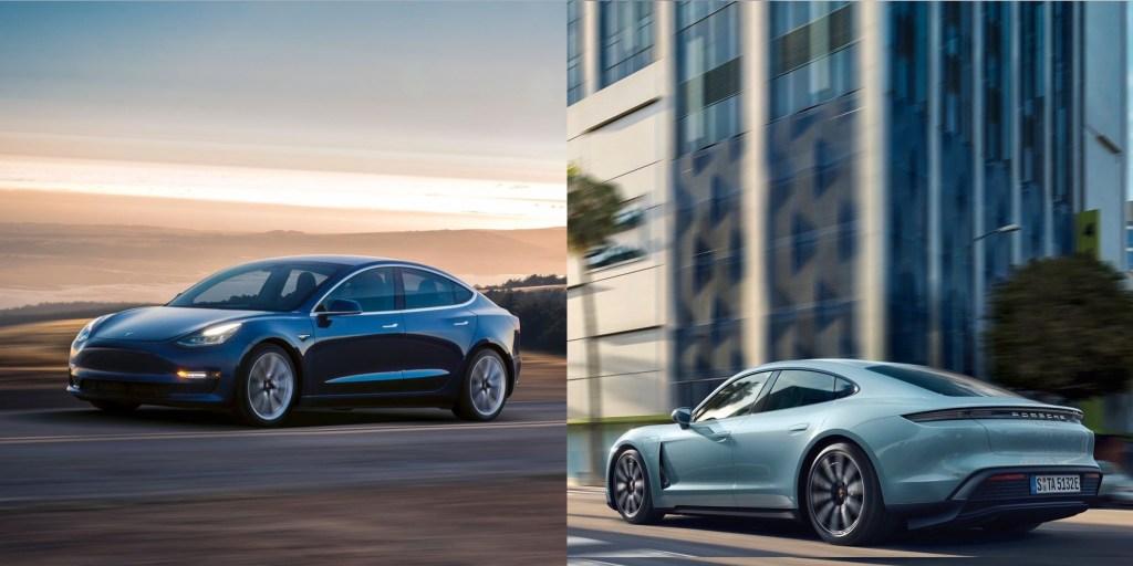 Tesla Model 3 vs. Porsche Taycan charging speed tested by German publication - Electrek