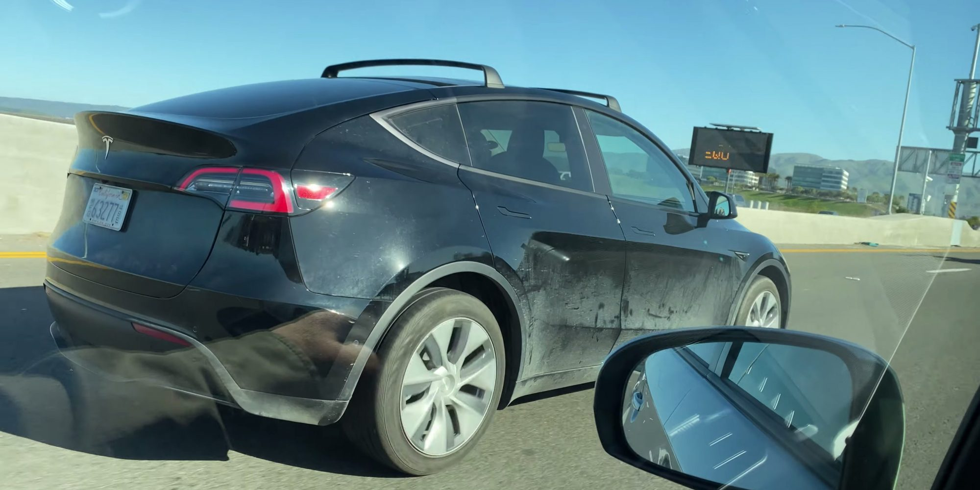 photo of First sighting surfaces of Model Y with roof rack in advance of launch image