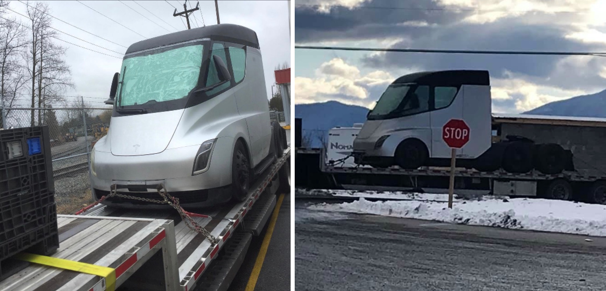 Tesla Semi prototype spotted in Canada, likely for winter testing - Electrek