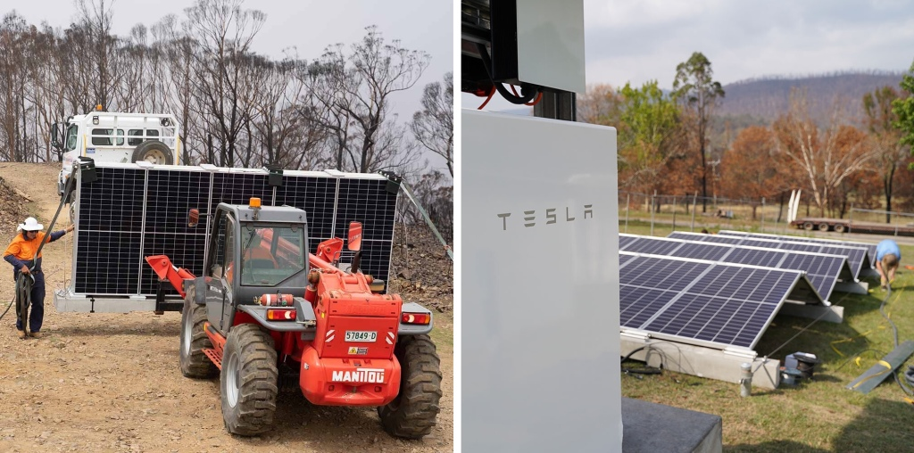 Tesla partners with solar firm and Atlassian founder to quickly deploy energy systems to help bushfire communities - Electrek