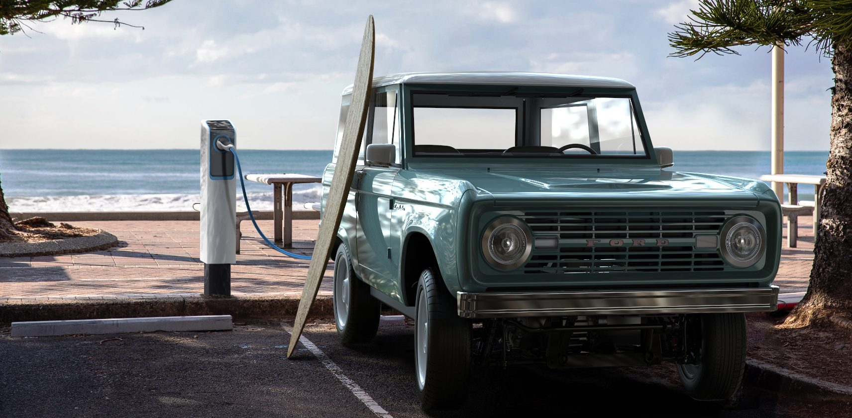 Classic Ford Bronco goes electric for $185,000 - Electrek