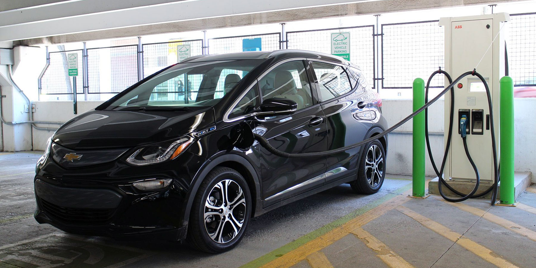 Chevy Bolt in parking structure
