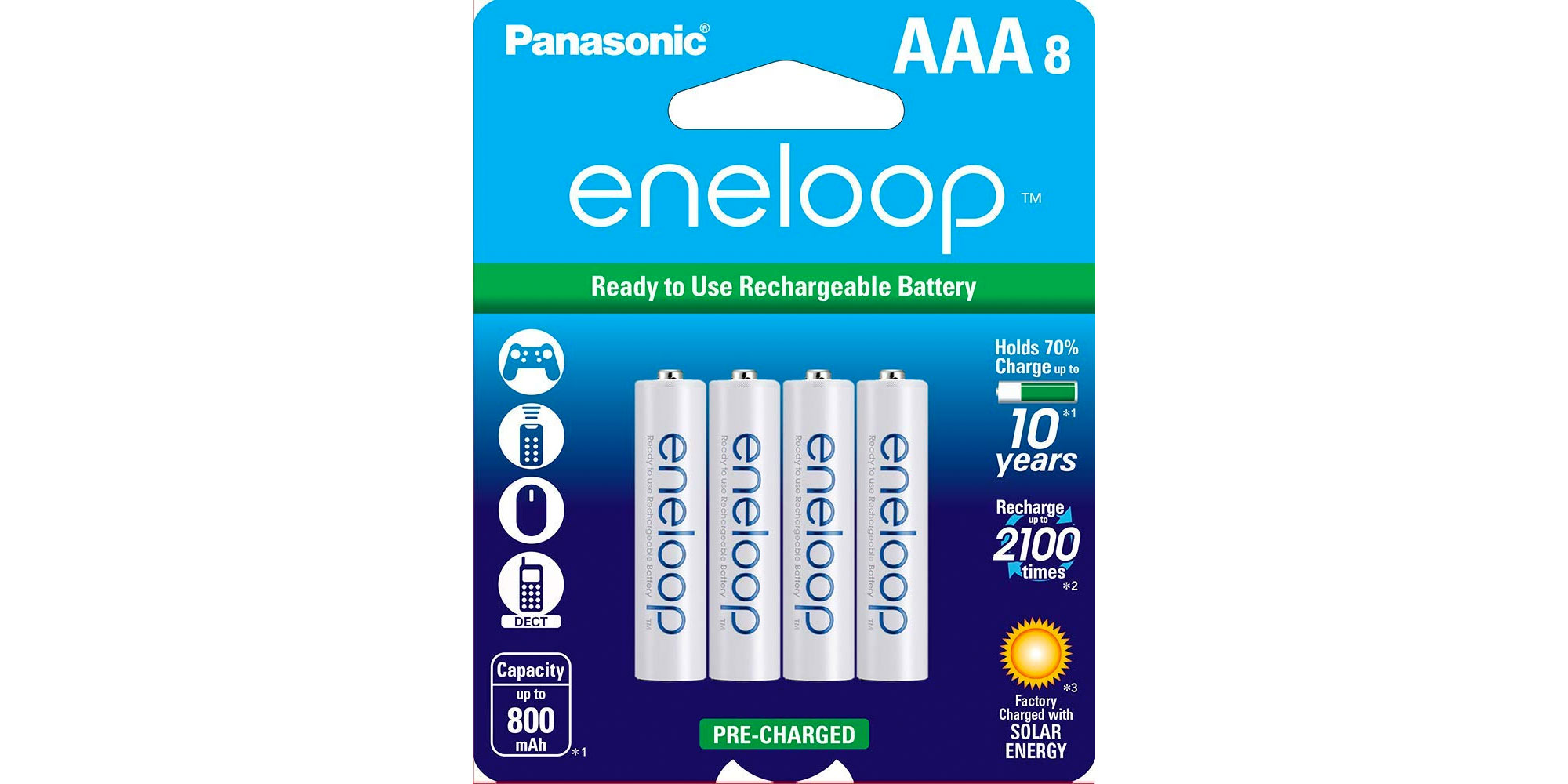 Grab an 8-pack of eneloop rechargeable batteries for $14.50, more in today's Green Deals - Electrek