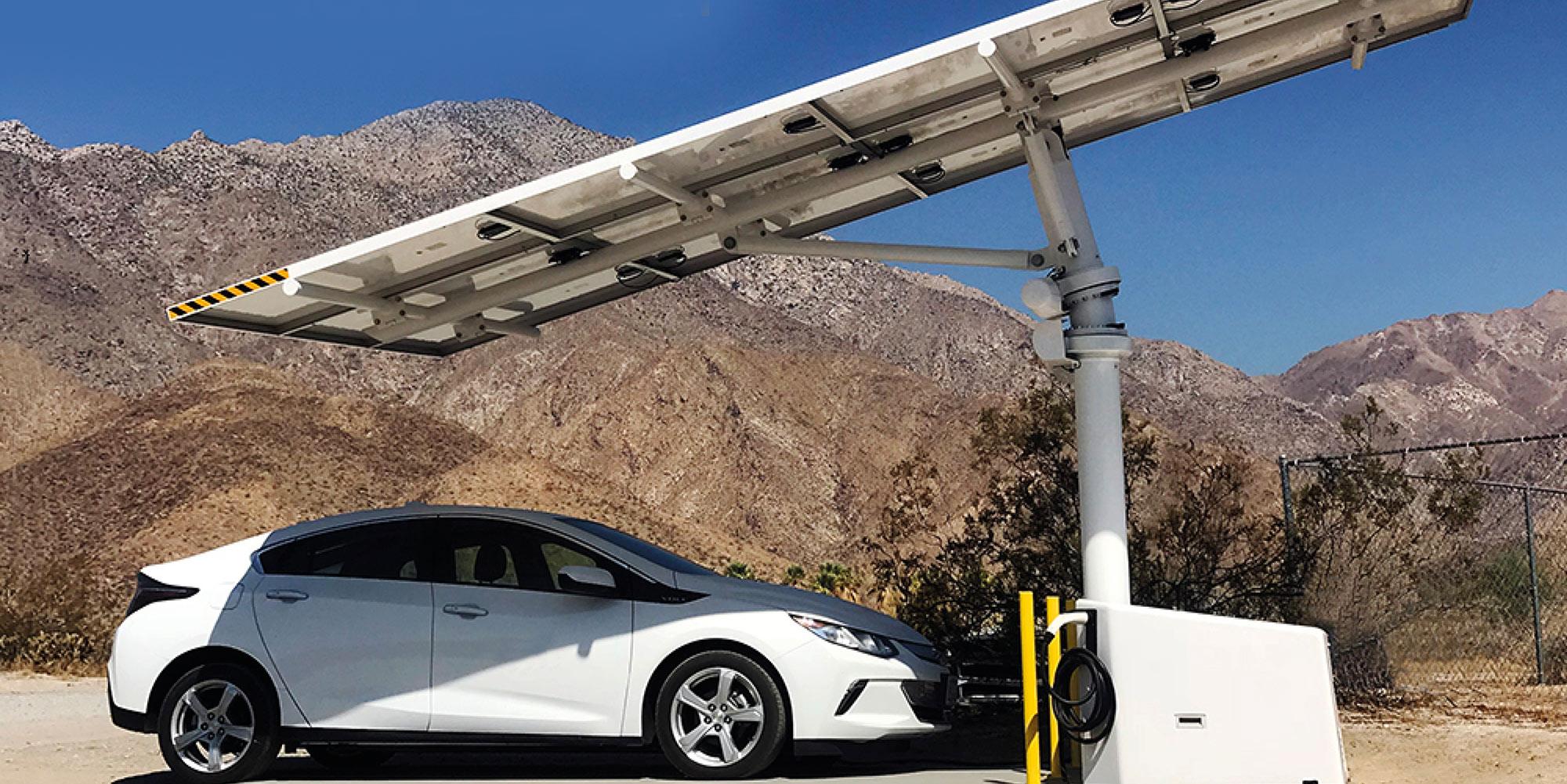 Envision off-grid solar EV charging