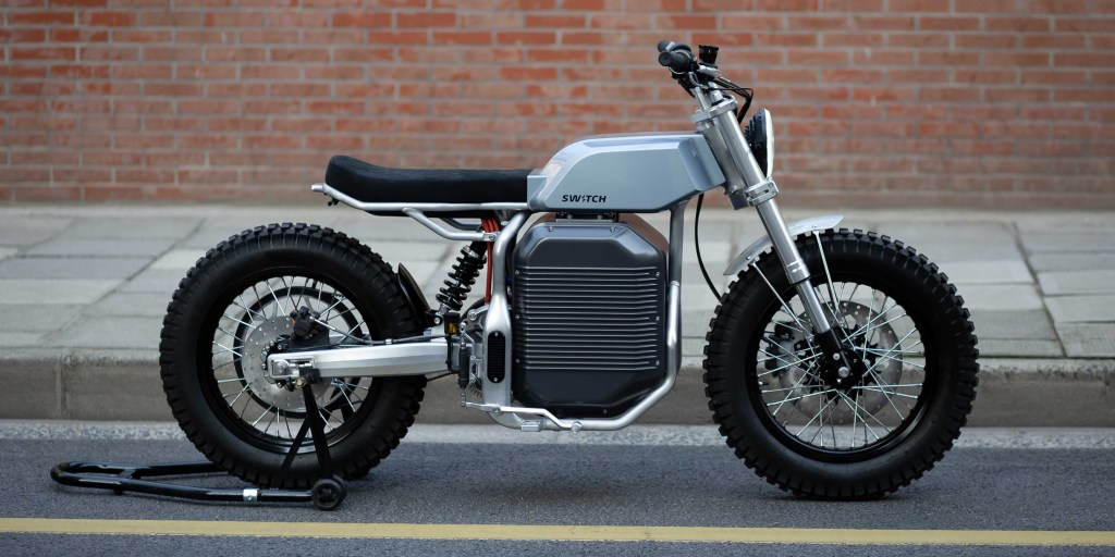 Switch motorcycles unveils retro-futuristic eSCRAMBLER electric motorcycle - Electrek
