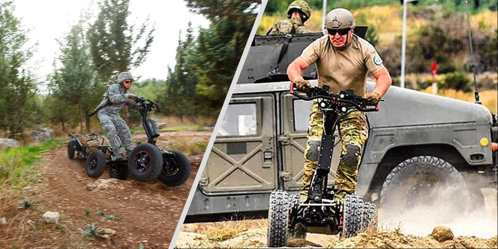 EZRaider all terrain electric scooter being tested by the US Army