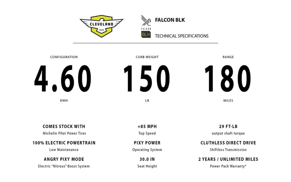falcon blk cleveland cyclewerks