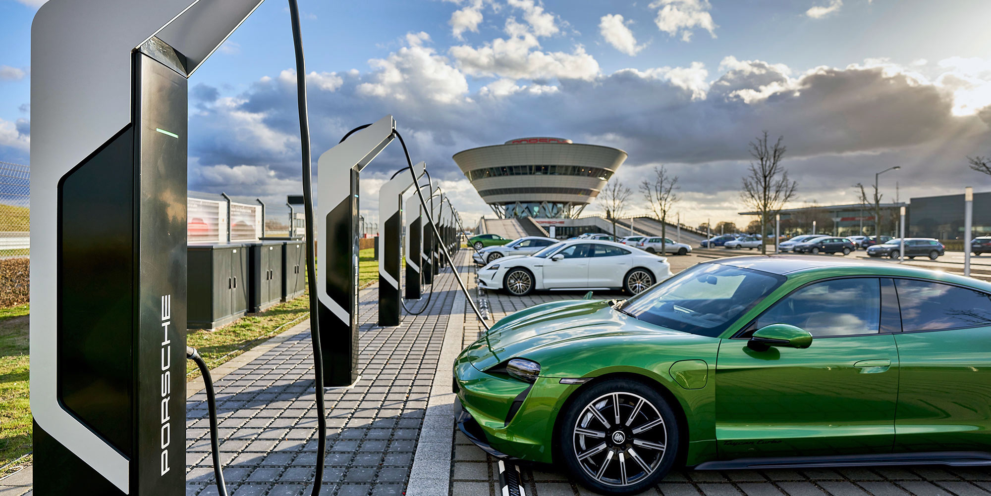 Porsche's new ultra-powerful EV-charging park in Leipzig opens to the public - Electrek