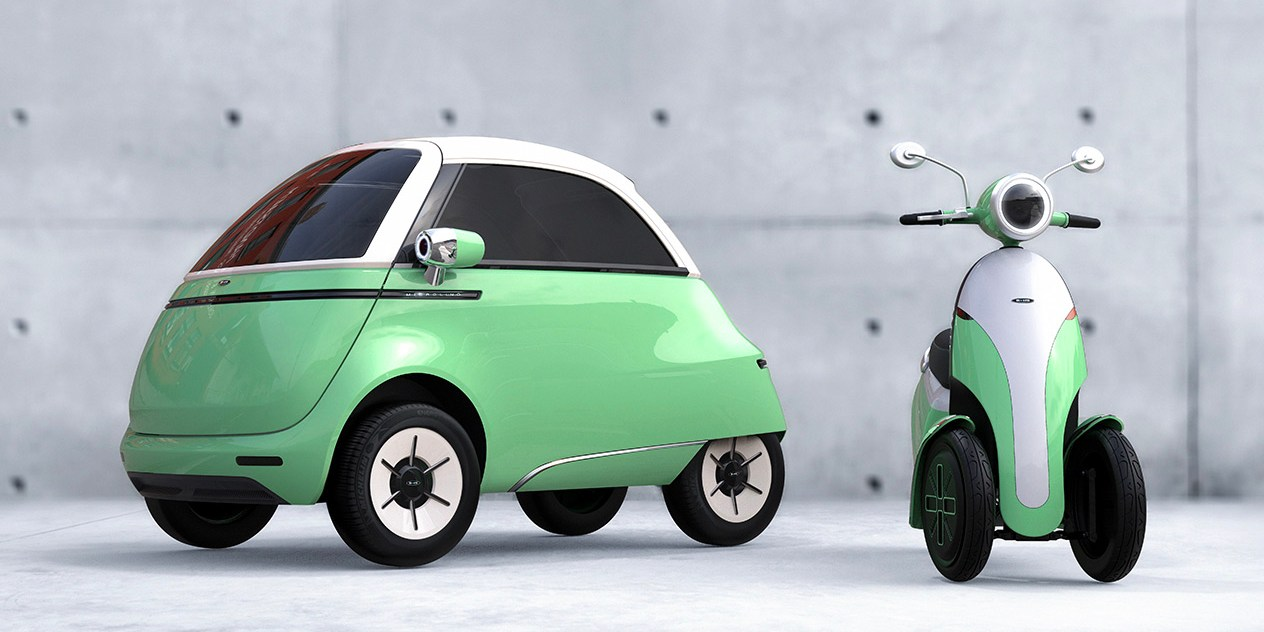 Which is cuter, the Microlino electric bubble car or its electric scooter companion? - Electrek