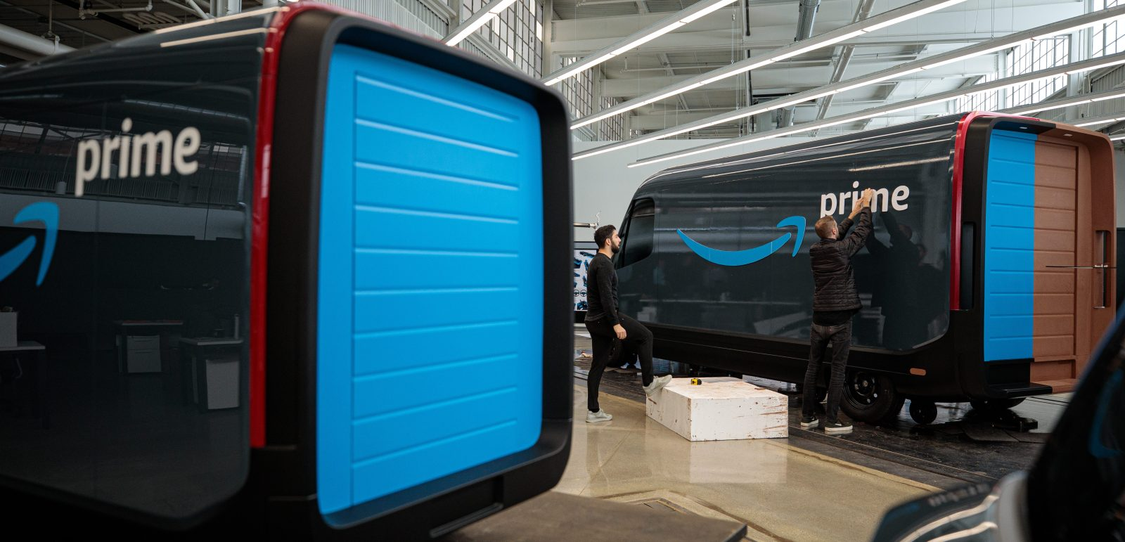 Closer look at Rivian's electric delivery van for Amazon