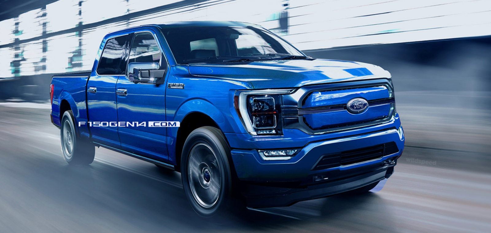 Ford F150 Electric 2022 Rendered Based