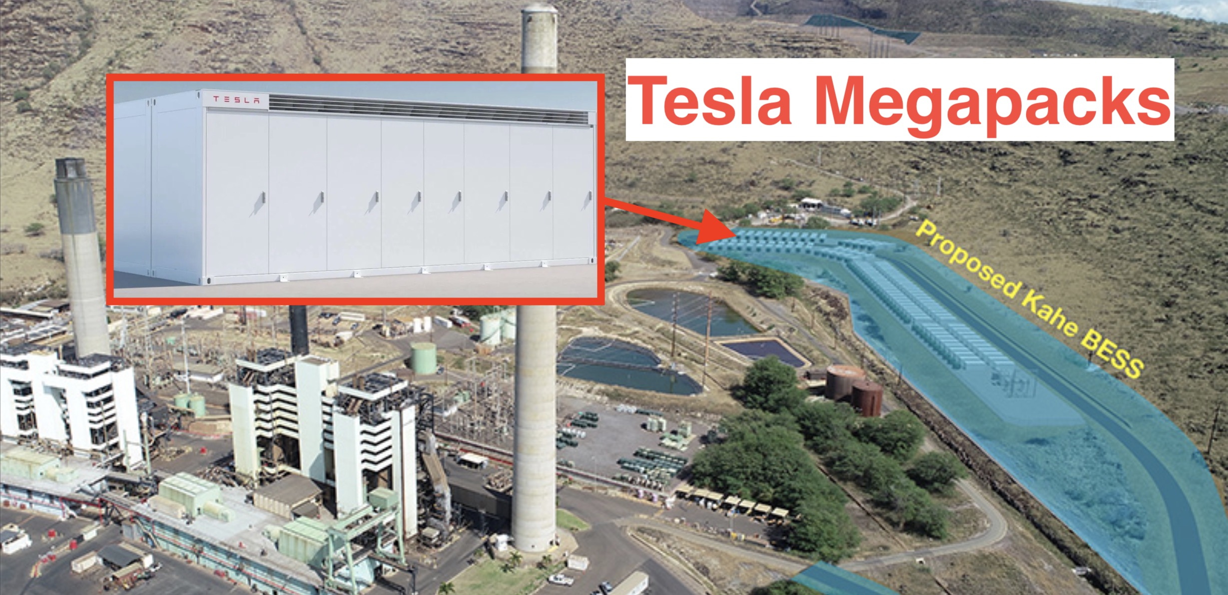 Tesla bids to deploy one of the biggest batteries in the world with 244 Megapacks in Hawaii - Electrek