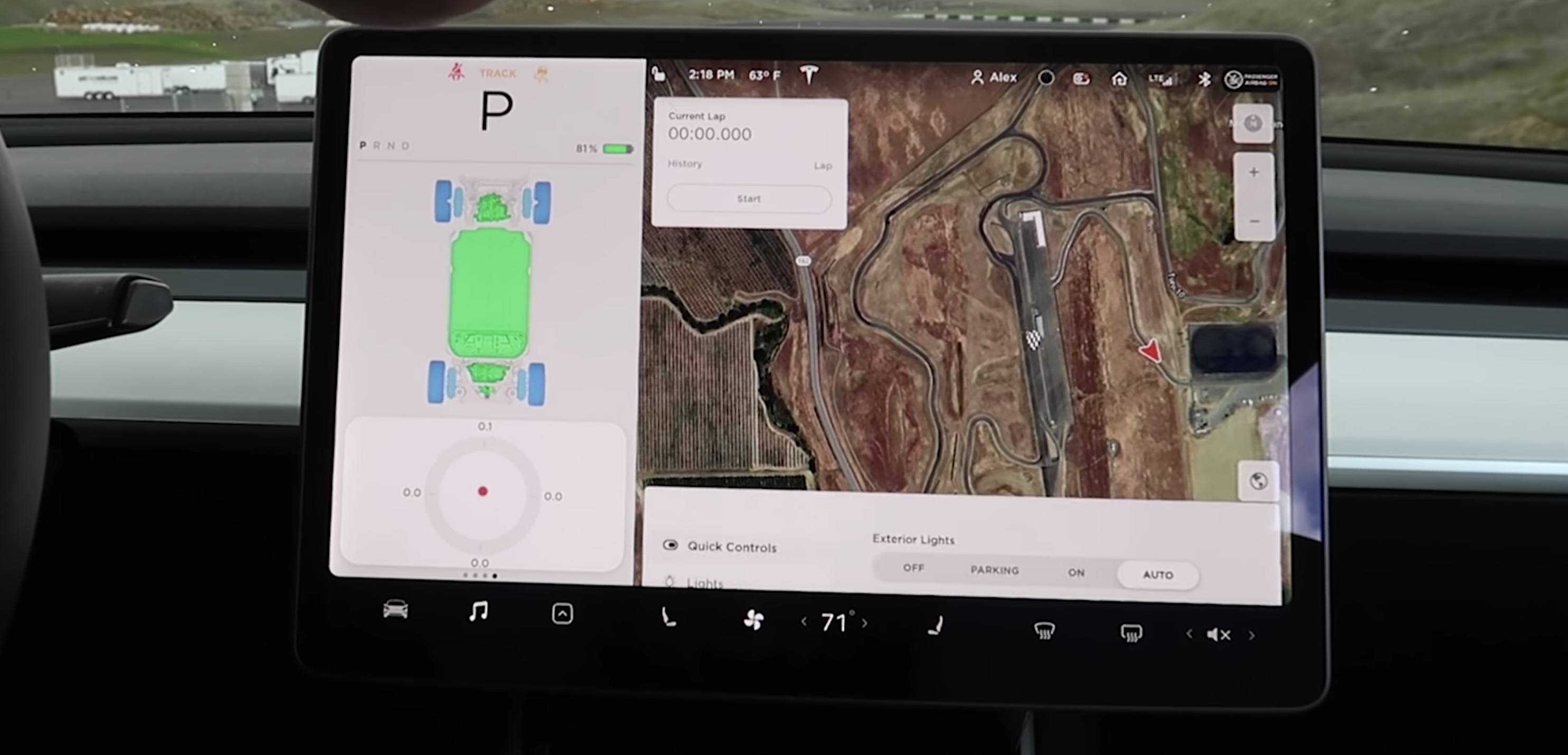Tesla releases Track Mode V2 - like a racing video game in your car - Electrek