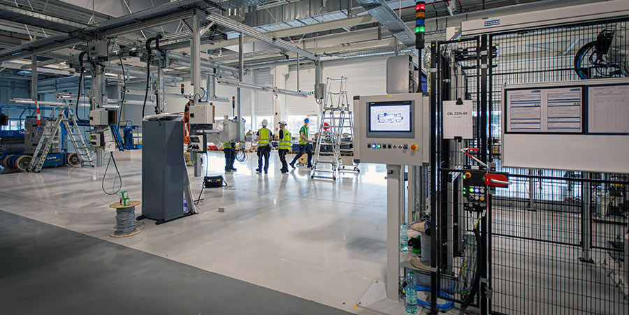 Volvo EV battery assembly line in Ghent, Belgium