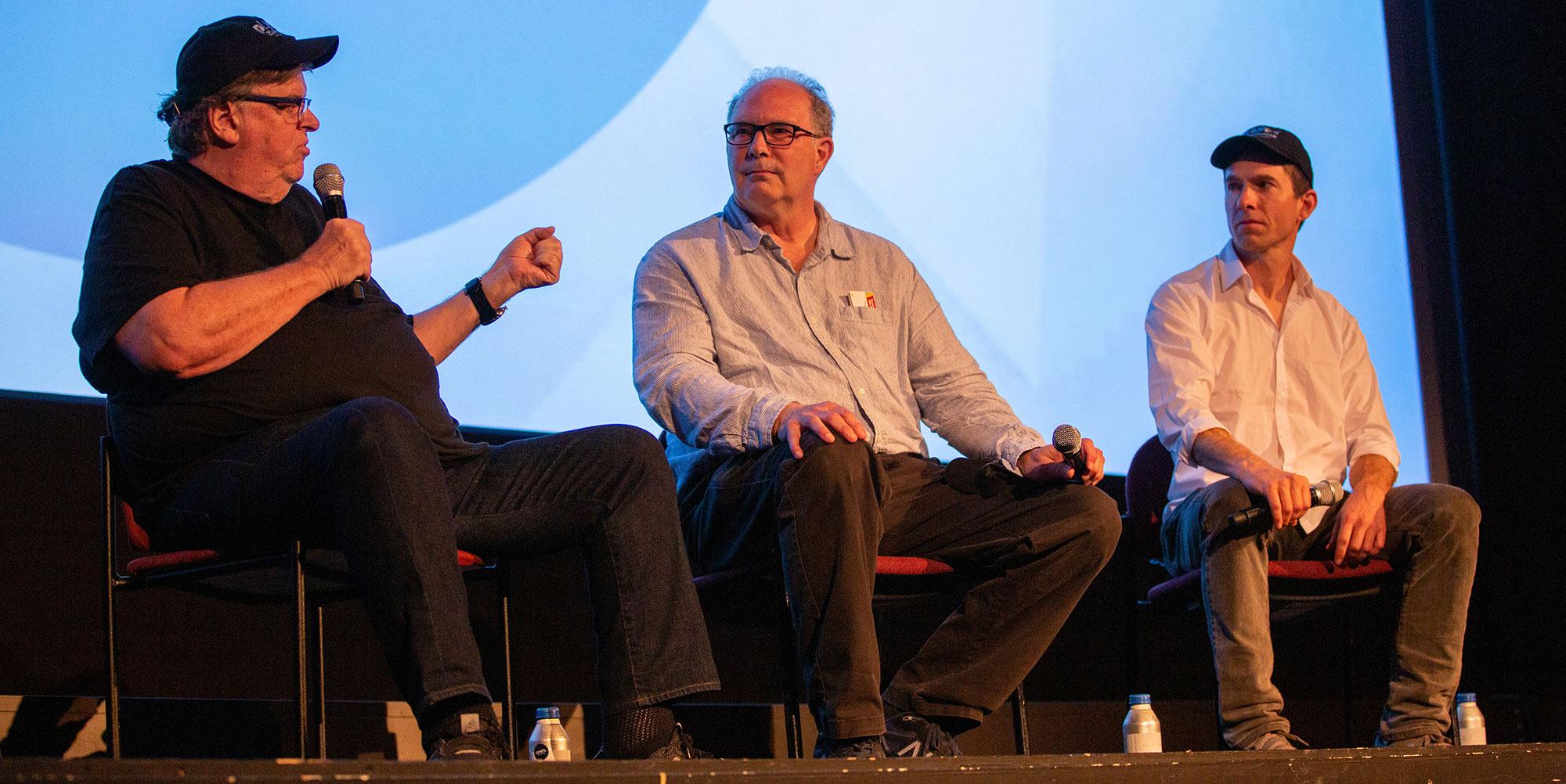 Michael Moore, Jeff Gibbs and Ozzie Zehner