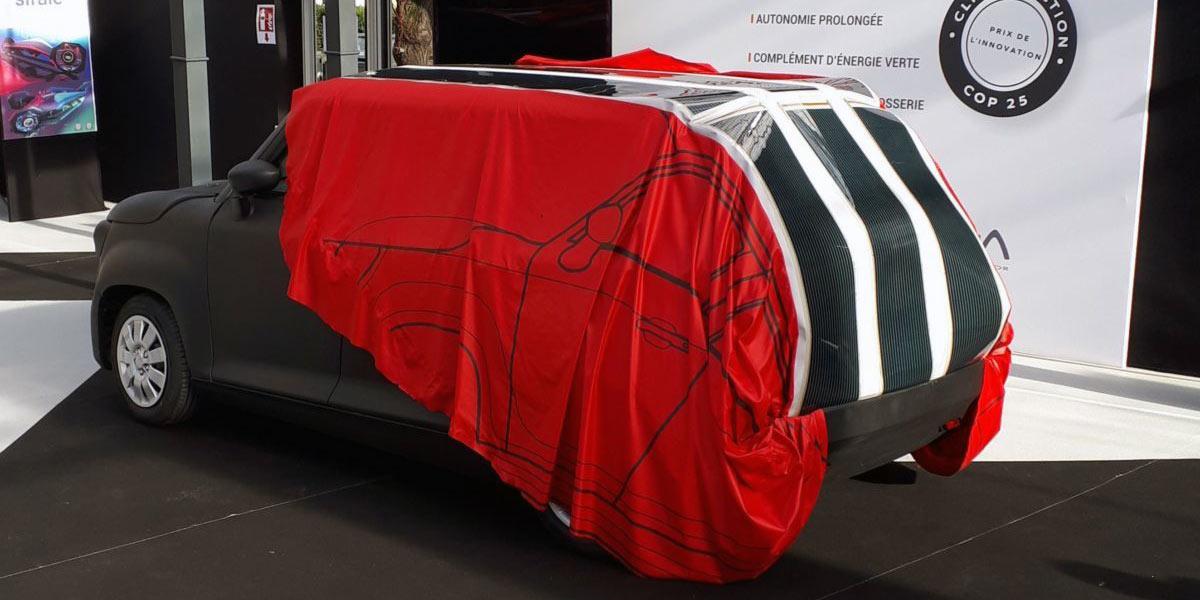 PV film in a solar ev-charging tarp