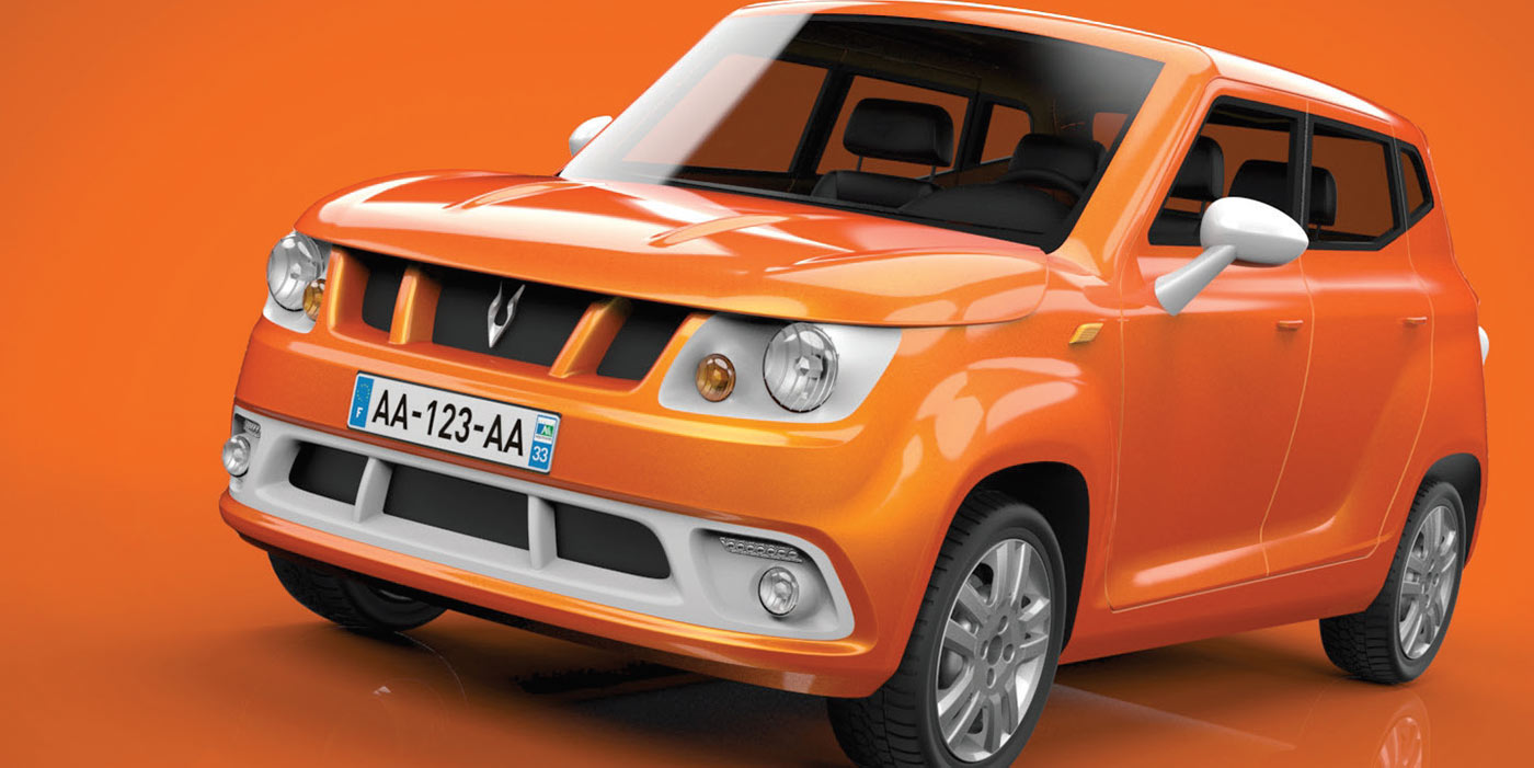 A lightweight SUV prototype from France's Gazelle Tech
