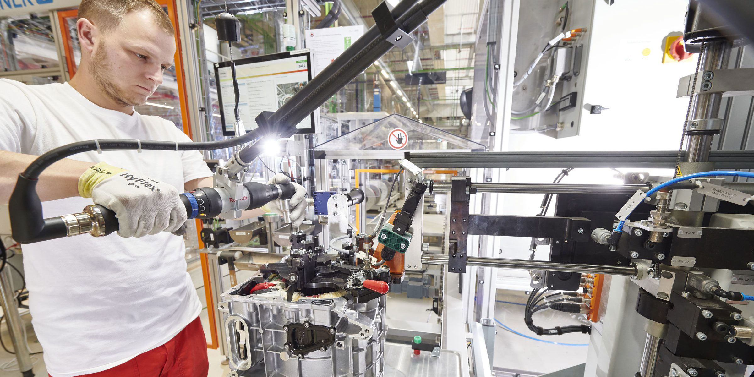 Production of Audi electric motors in Hungary