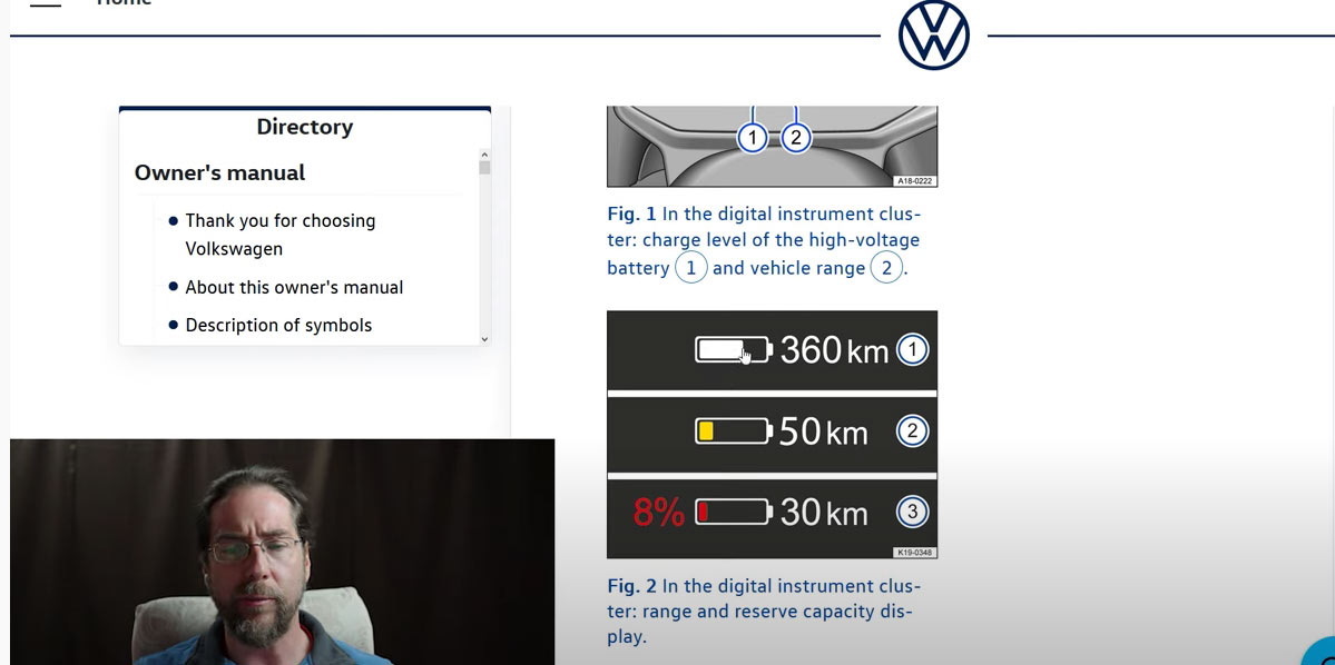 VW ID.3 owner's manual