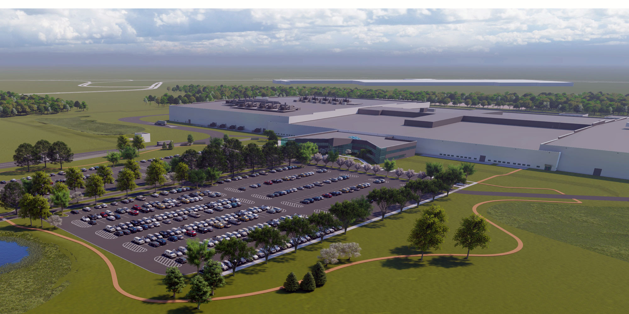 Rendering of GM-LG Chem facility in Lordstown, Ohio