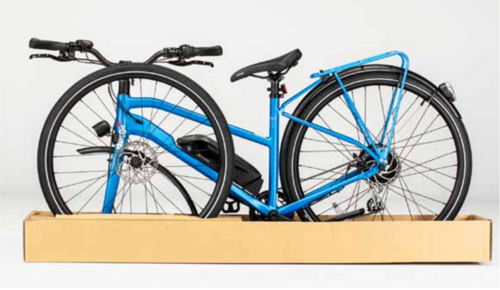 charge electric bike packaging