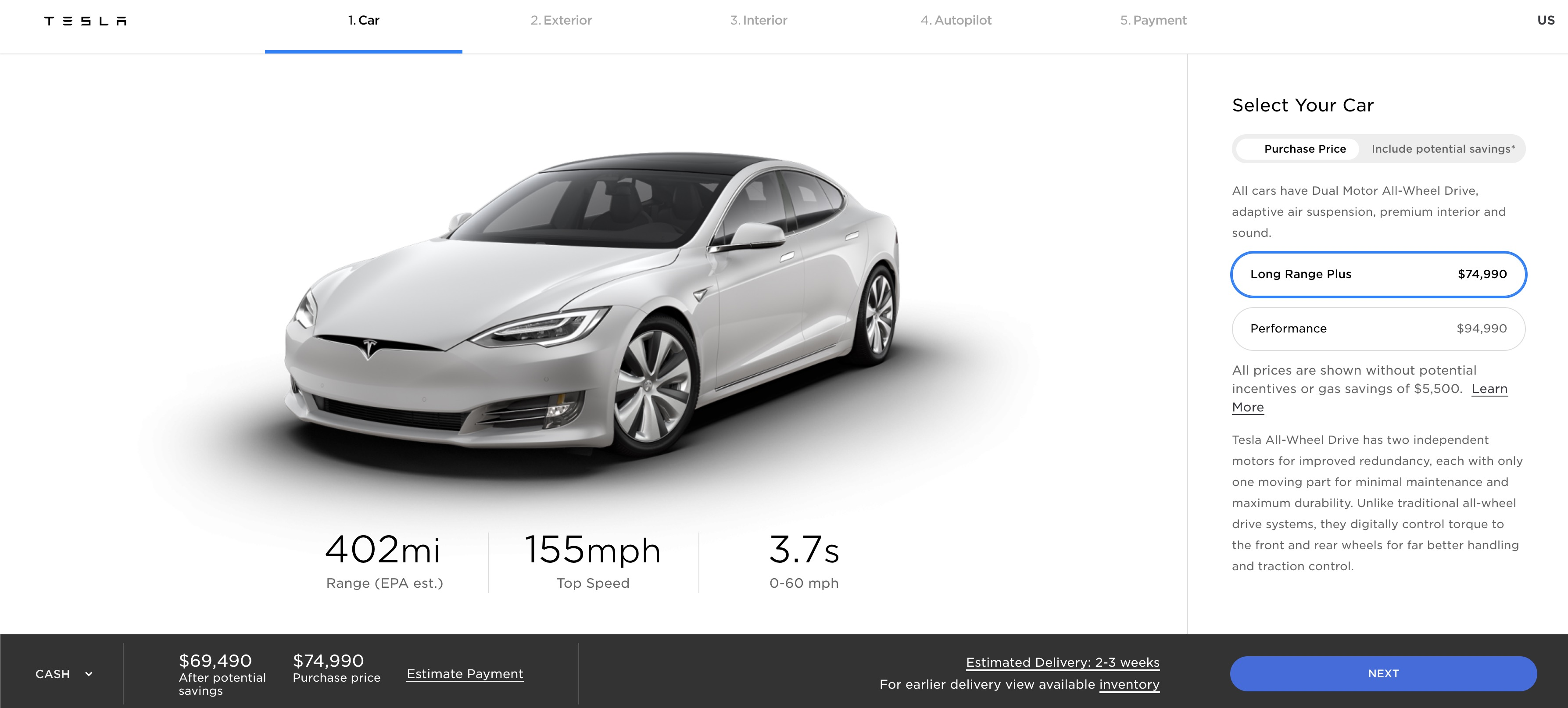 Tesla upgrades Model S with 402-mile ...