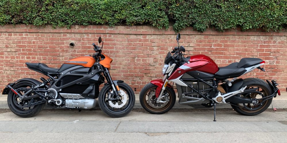 Zero SR / F против электрического мотоцикла Harley-Davidson LiveWire