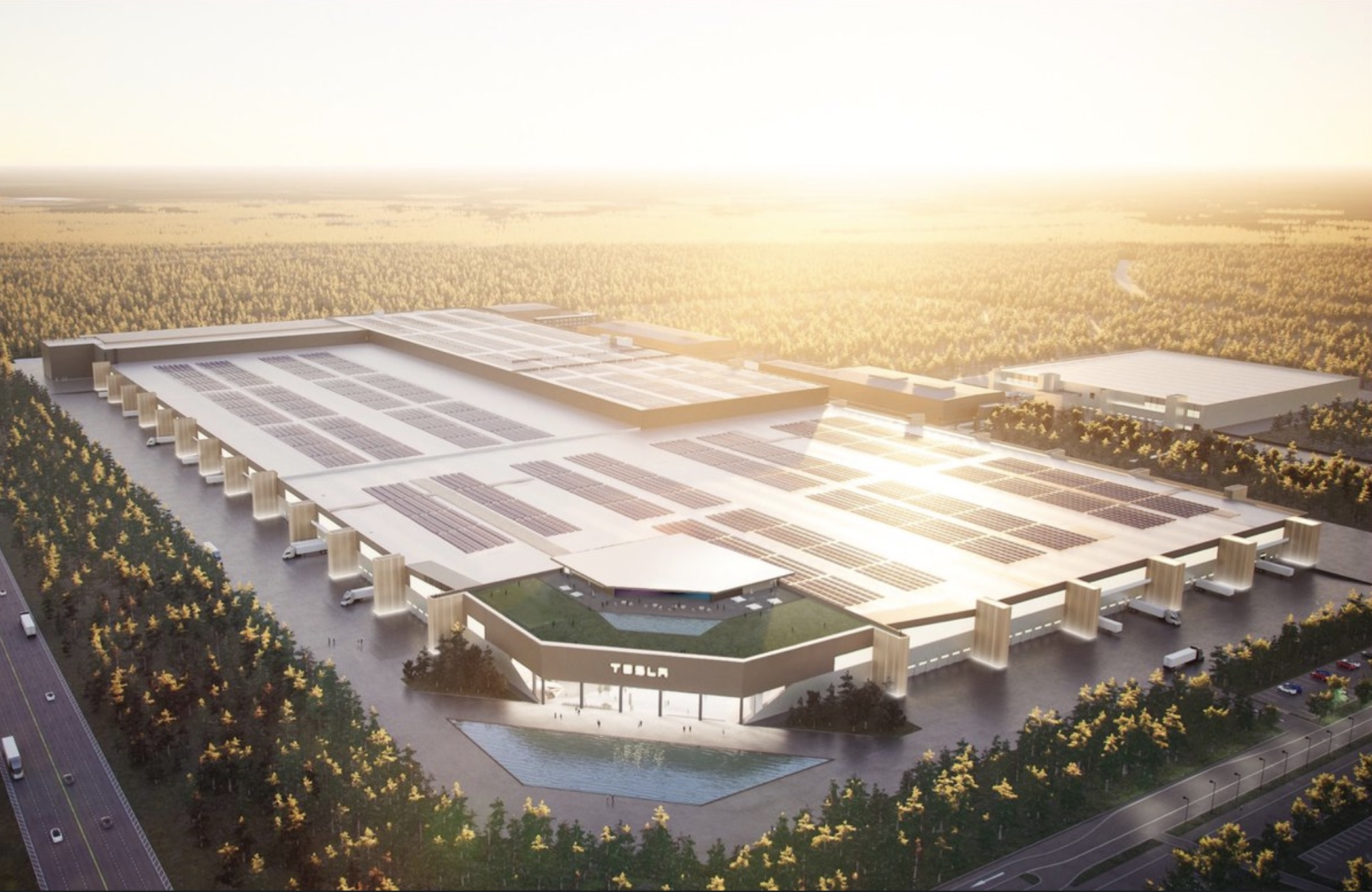 Elon Musk Releases Stunning Render Of Tesla Gigafactory Berlin When Completed Electrek