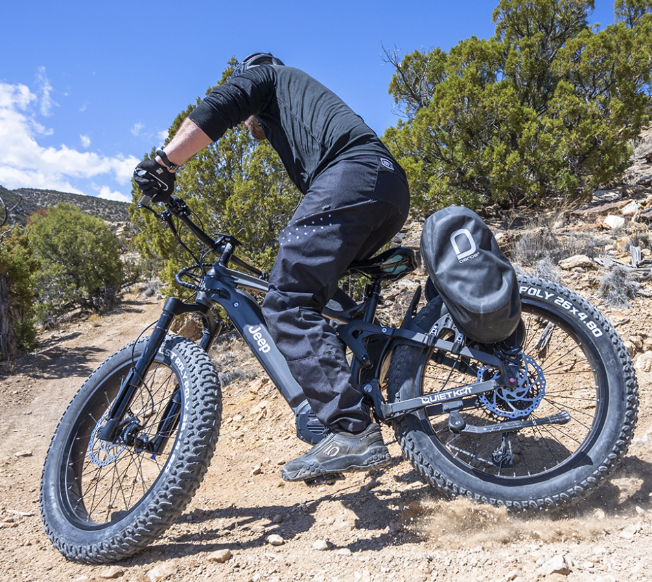 Jeep's new 1,500W full-suspension fat tire electric bike to begin shipping